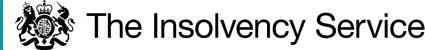 Insolvency Service logo.
