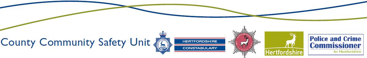 Hertfordshire County Community Safety Unit logo